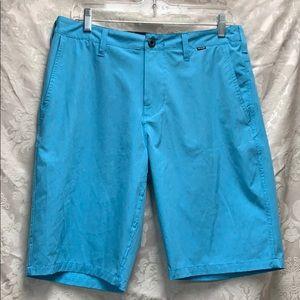 Hurley Phantom Aqua Blue Shorts sz 30 GUC